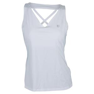 Women`s Double Cross Tennis Tank White