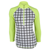 JOFIT Women`s Martini Spritzer Tennis Mock Top Windowpane