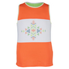 LUCKY IN LOVE Girls` Az-Tech Stone Tennis Tank Lime