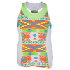 LUCKY IN LOVE Girls` Az-Tech Racerback Tennis Tank Print