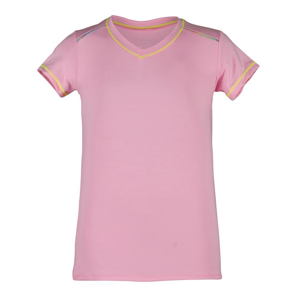 Girls ` Cap Sleeve Tennis Top Pink