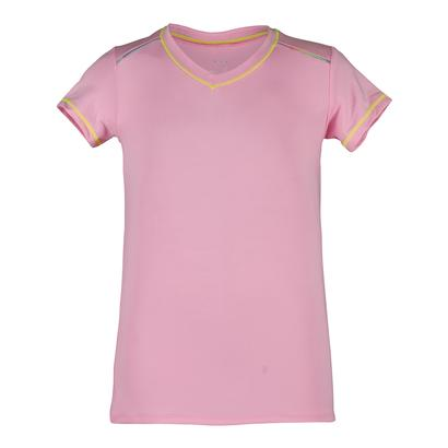 Girls` Cap Sleeve Tennis Top Pink