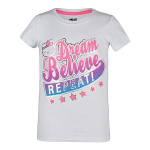 Girls` Scoop-Neck Trainging Tee White