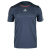 ADIDAS Men`s Barricade Tennis Tee Midnight Gray