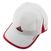 ADIDAS Men`s Adizero II Tennis Cap White and Scarlet