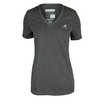 ADIDAS Women`s Climacool Aeroknit Tennis Tee Black Heather