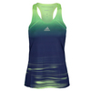 ADIDAS Women`s Adizero Tennis Tank Frozen Yellow and Midnight Indigo