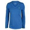 ADIDAS Women`s Climacool Aeroknit Long Sleeve Tennis Tee Bold Blue Heather