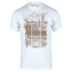 Unisex NYC Tennis Skyline Tee White