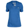 ADIDAS Women`s Climacool Aeroknit Tennis Tee Bold Blue Heather