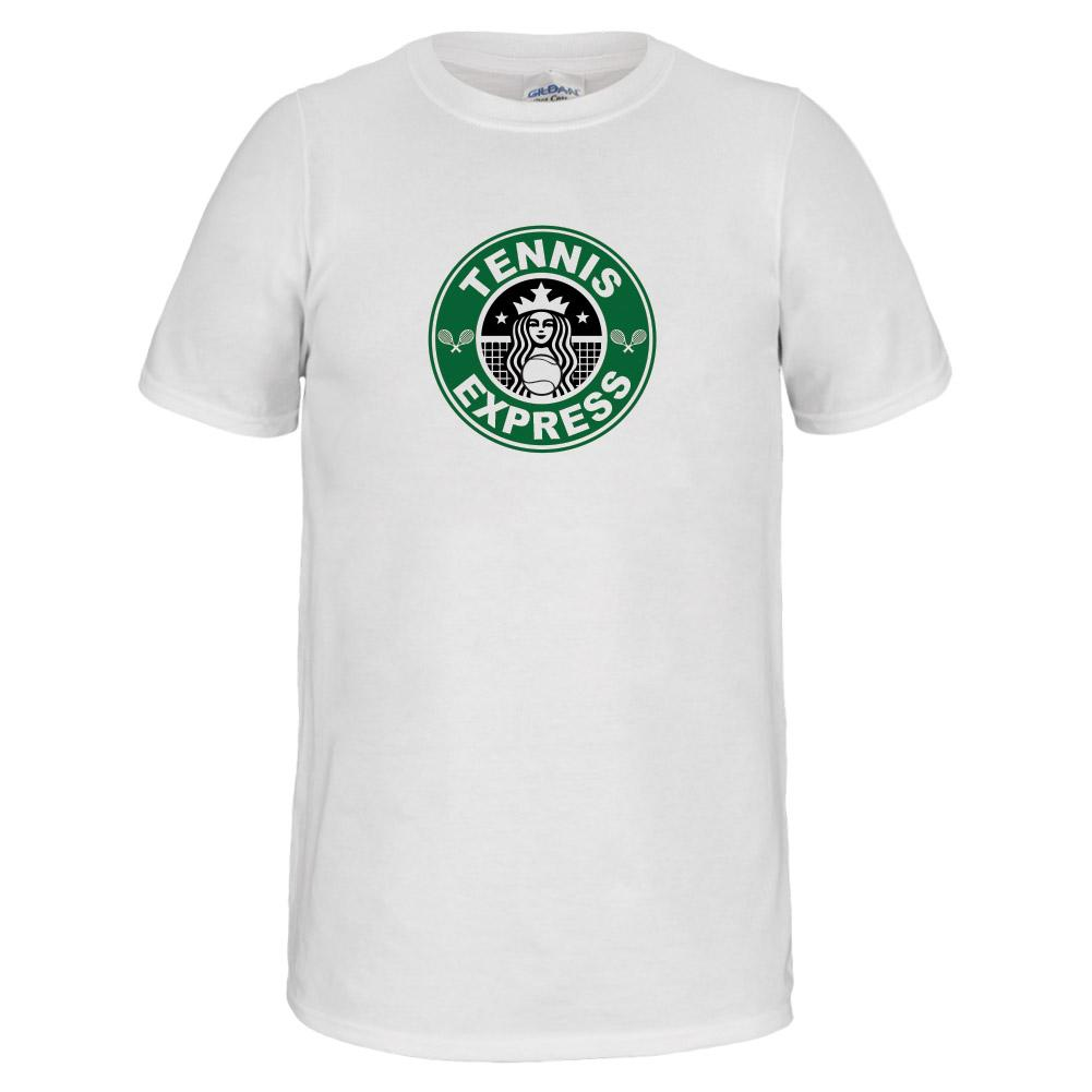 Starbucks Unisex Tennis Tee In White