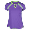 SOFIBELLA Women`s Power Play Classic Mock Sleeve Tennis Top Force