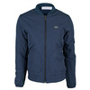 LACOSTE Women`s Long Sleeve Canvas Padded Jacket Dark Indigo Blue
