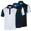 LACOSTE Men`s Short Sleeve Ultra Dry Color Block Tennis Polo