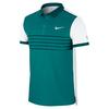 NIKE Men`s Advantage Premier Roger Federer Tennis Polo Radiant Emerald