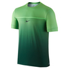 NIKE Men`s Rafa Challenger Tennis Crew Green Strike and Black