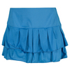 LUCKY IN LOVE Women`s Pleated Tier Tennis Skort Azure