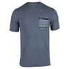 TRAVISMATHEW Men`s Alex Tennis Crew Heather Medieval Blue
