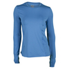 LUCKY IN LOVE Women`s Long Sleeve Tennis Crew Azure