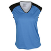 LUCKY IN LOVE Women`s Layered Tennis Cap Sleeve Azure