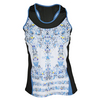 LUCKY IN LOVE Women`s Romantic Rebel Racerback Tennis Tank Print