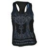 LUCKY IN LOVE Women`s Romantic Rebel Mesh Layer Tennis Tank Print