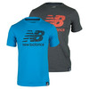 NEW BALANCE Men`s Short Sleeve Logo Tennis Tee