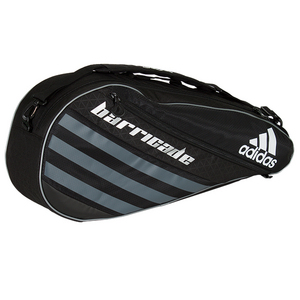 Barricade IV Tour 3 Pack Tennis Bag Black and Dark Silver