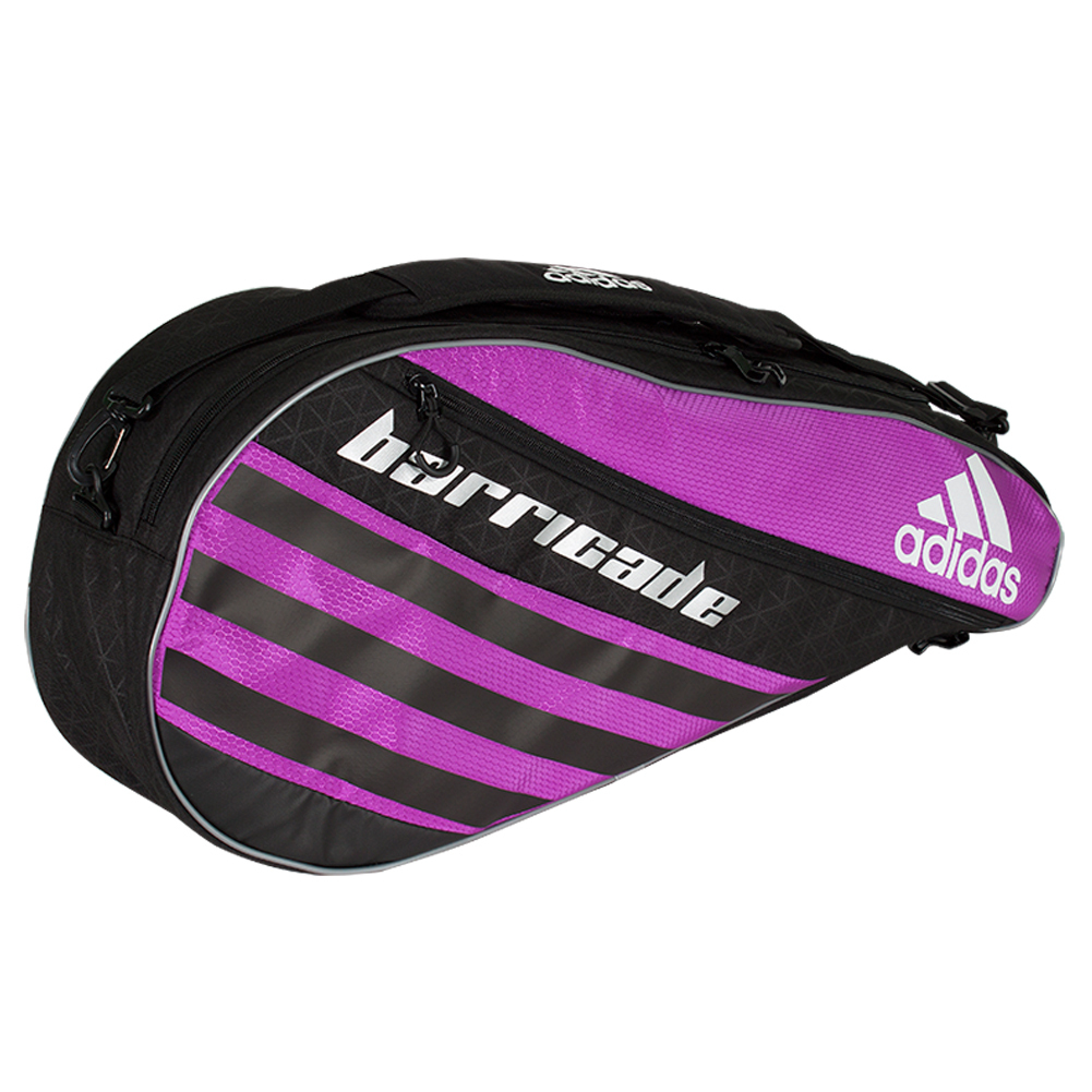 Barricade Iv Tour 3 Pack Tennis Bag Flash Pink And Black