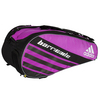 Barricade IV Tour 6 Pack Tennis Bag Flash Pink and Black by ADIDAS