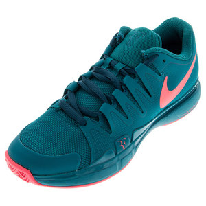 Men`s Zoom Vapor 9.5 Tour Tennis Shoes Radiant Emerald and Hot Lava