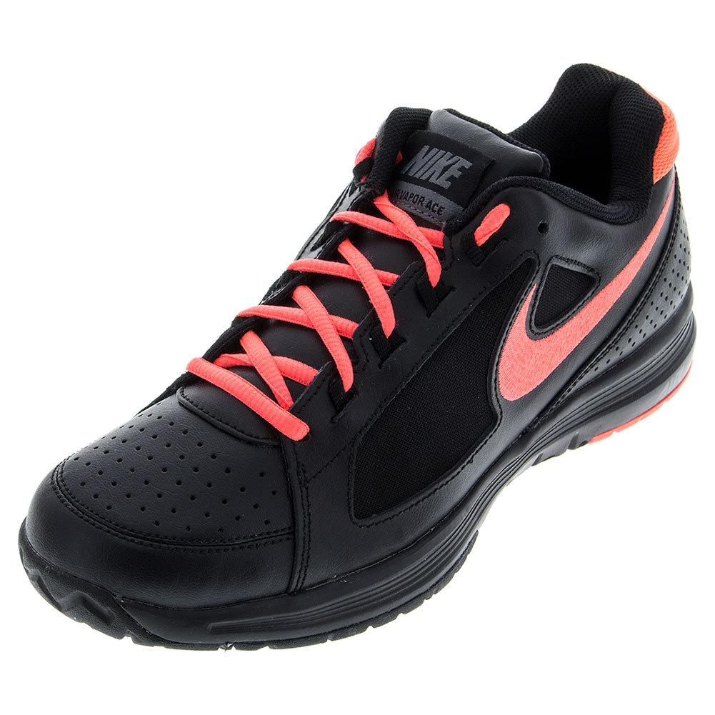Women's Air Vapor Ace Tennis Shoes Black And Hot Lava