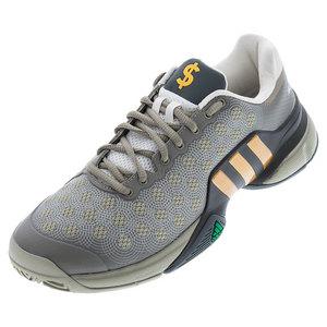 Men`s Barricade 2015 Wall Street Tennis Shoes Tech Beige and Gold Metallic
