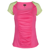 BOLLE Women`s Capri Cap Sleeve Tennis Top Melon