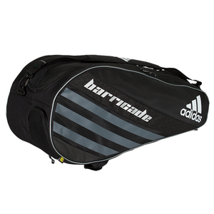 Barricade IV Tour 6 Pack Tennis Bag Black and Dark Silver
