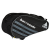 Barricade IV Tour 6 Pack Tennis Bag Black and Dark Silver by ADIDAS