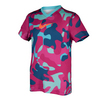 NIKE Girls` Legend Swoosh Fill V-Neck Tee
