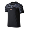NIKE Men`s Challenger Premier Rafa Tennis Crew Black and Hot Lava