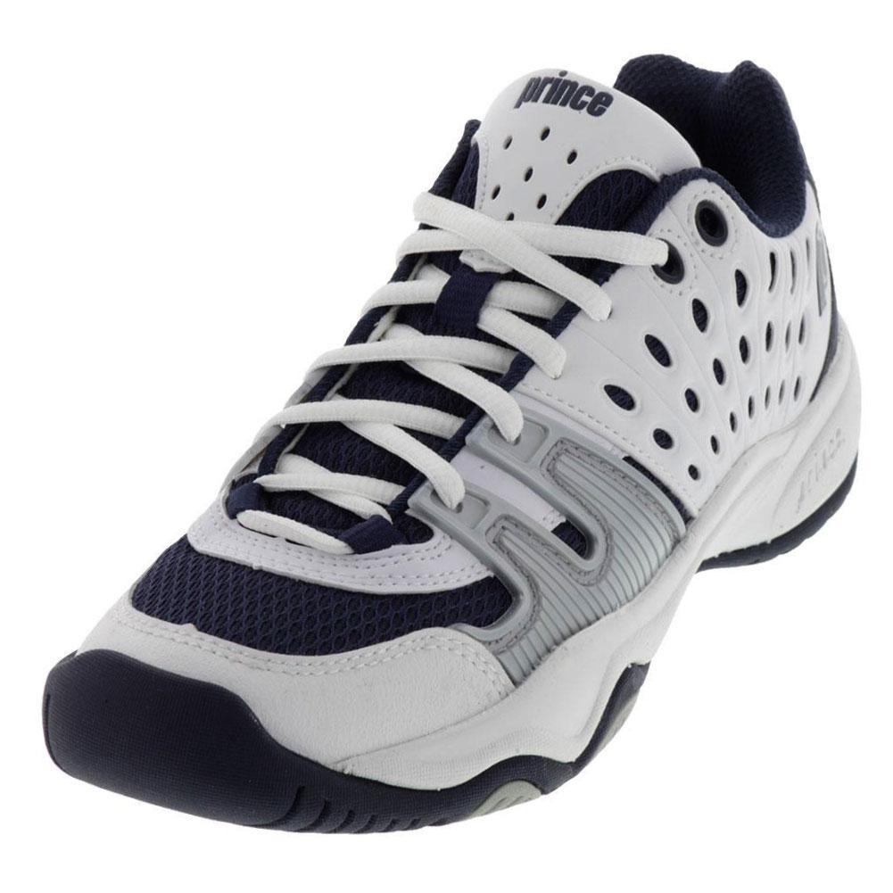 T22 Junior Tennis Shoes White Navy