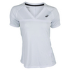 Women`s Club V-Neck Tennis Top 0001_REAL_WHITE