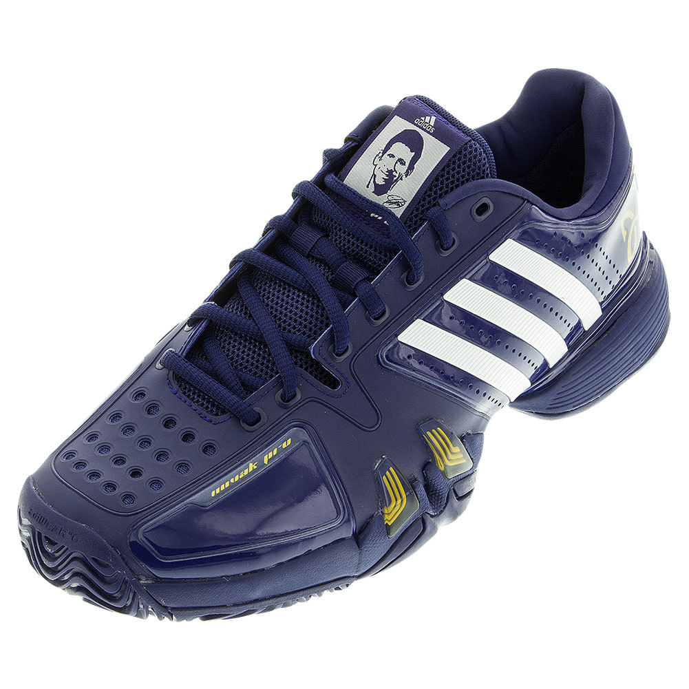 adidas s novak pro tennis shoes midnight indigo and white