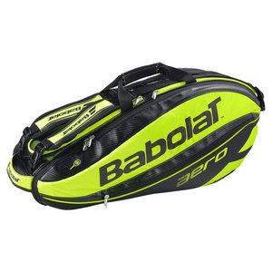 BABOLAT PURE AERO 6 PACK TENNIS BAG BK/YL