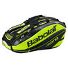 BABOLAT Pure Aero 12 Pack Tennis Bag Black and Yellow