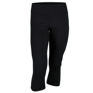 Women`s Wide Band Fit Capri 3/4 Leg Black