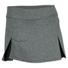 Women`s Core Inverted Pleat Knit Tennis Skirt GRAY_HEATHER