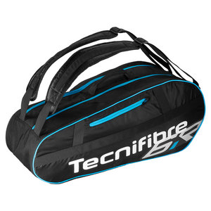Team Lite 6 Pack Tennis Bag Black and Blue