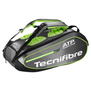 Tour Ergonomy ATP 9 Pack Tennis Bag Gray and Green