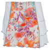 DENISE CRONWALL Women`s Tennis Skort White and Catalina Print