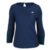 LOTTO Women`s Victoria Long Sleeve Tennis Top Blue Cosmo
