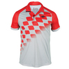 LOTTO Men`s Connor Tennis Polo Pearl and Red Spanish